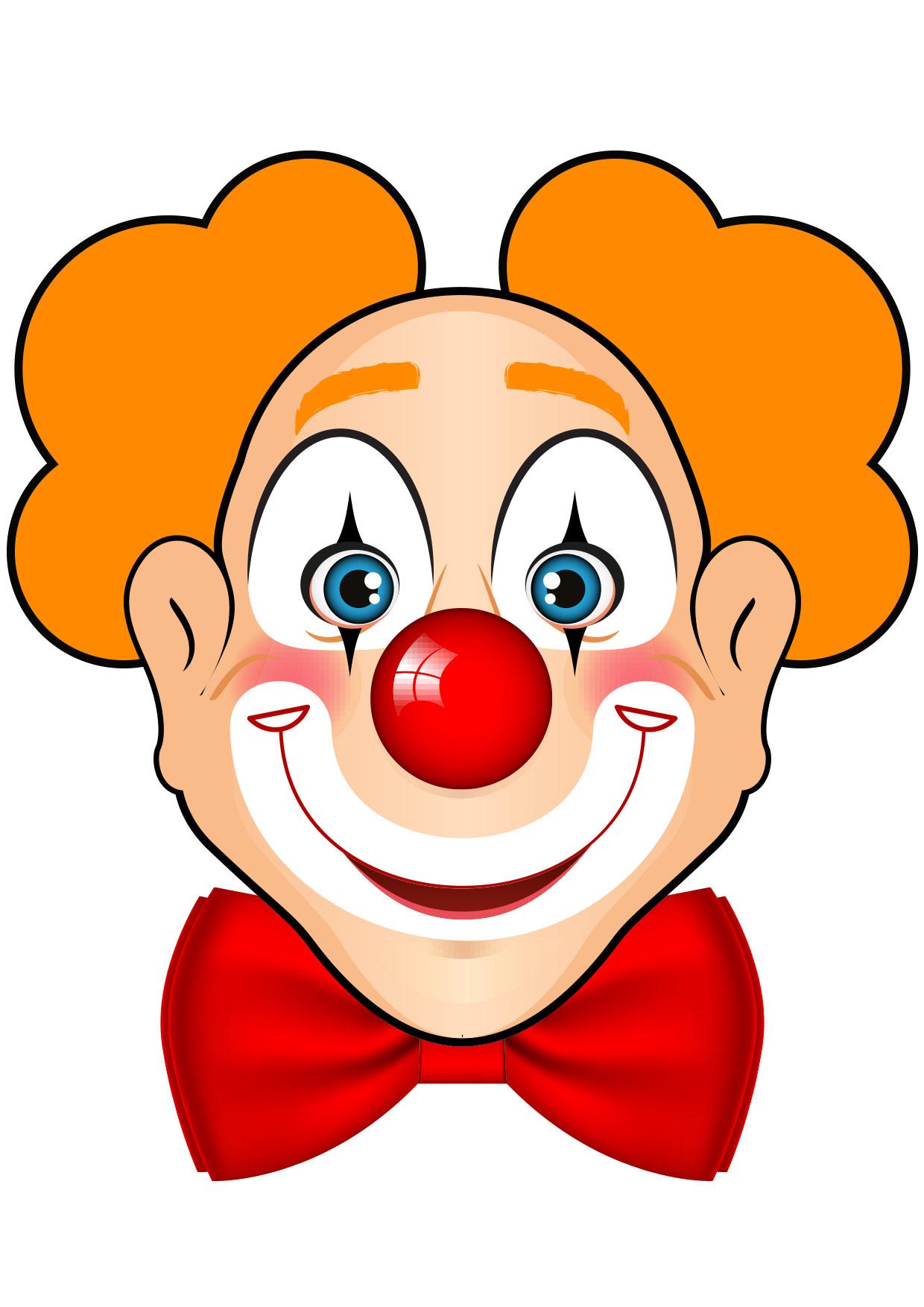 Coloriage masque clown www - Tete de clown a imprimer ...