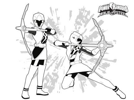 Coloriage Gratuit Oscar Et Malika.Les Power Rangers Ninja Steel Coloriages Goodies Power