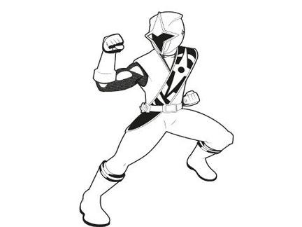 Coloriage De Power Rangers Ninja Steel