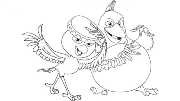 Coloriage De Dessin Anime A Imprimer.Coloriages Rio 2 Actu Des Enfants Actu Tiji