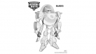 Coloriage Transformers Rescue Bots - Blades