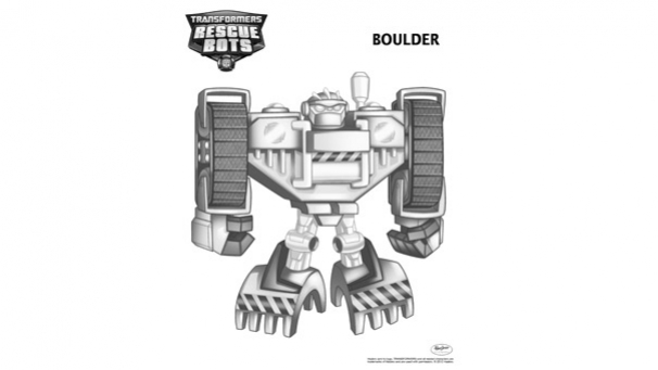 Coloriage Transformers Rescue Bots - Boulder