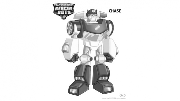 Coloriage Transformers Rescue Bots - Chase