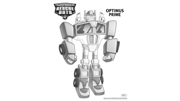 Coloriage Transformers Rescue Bots - Optimus Prime