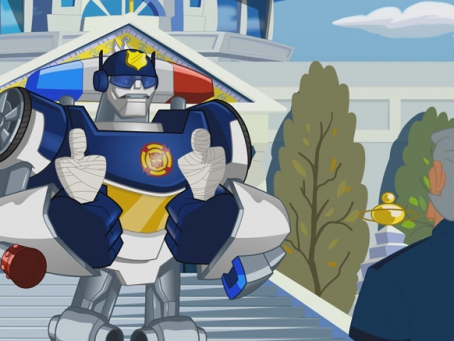 Transformer Rescue Bots, Chase et Chef Burns